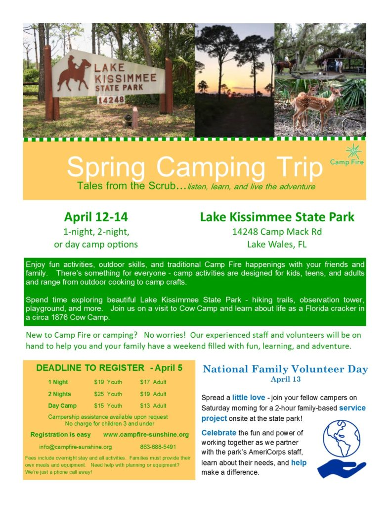 Spring Camping Trip At Kissimmee State Park Camp Fire Sunshine Central Florida